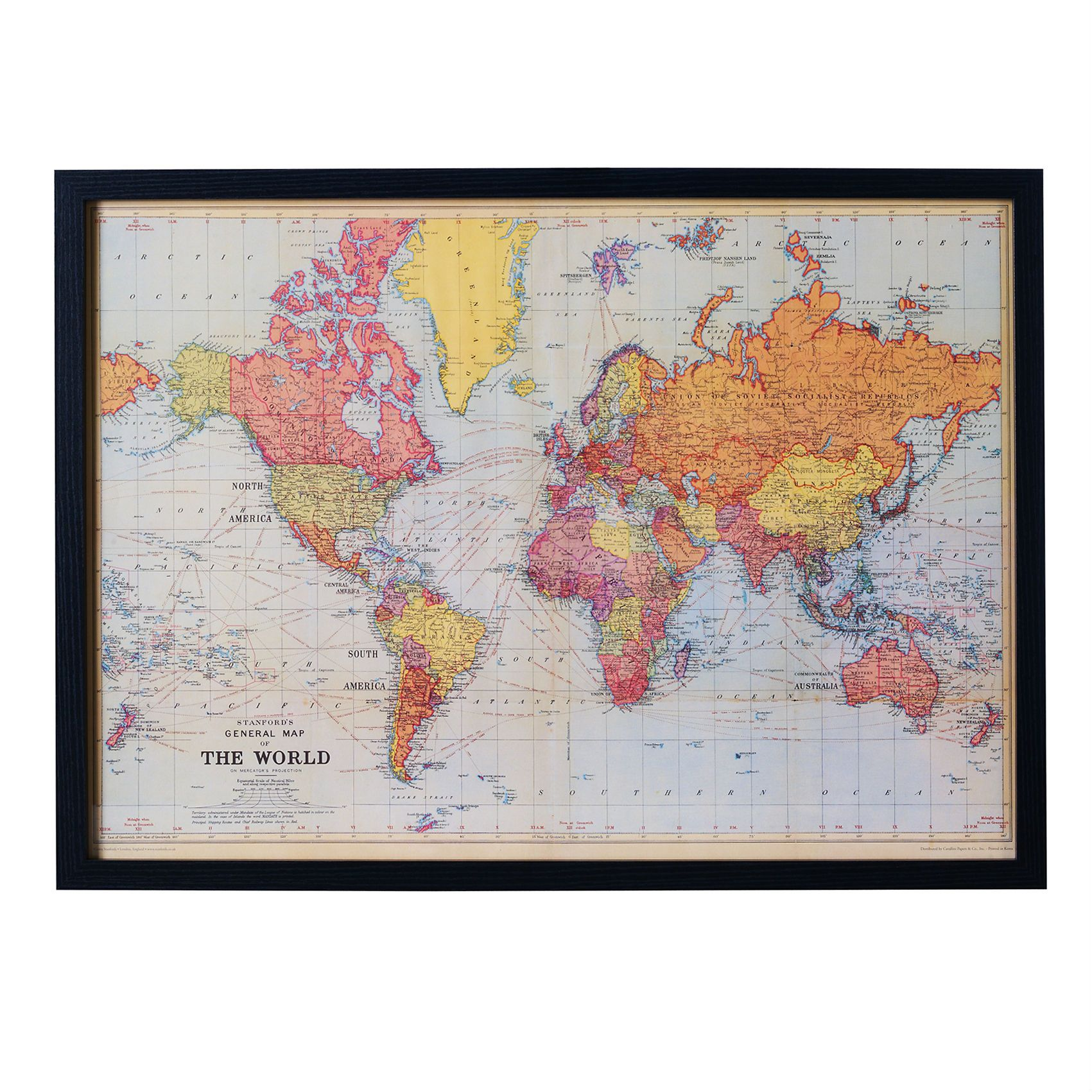 Buy the vintage world map frame at oliver bonas enjoy free uk kids posters prints art kids world map wall art world wall art and other furniture decor products gumiabroncs Choice Image