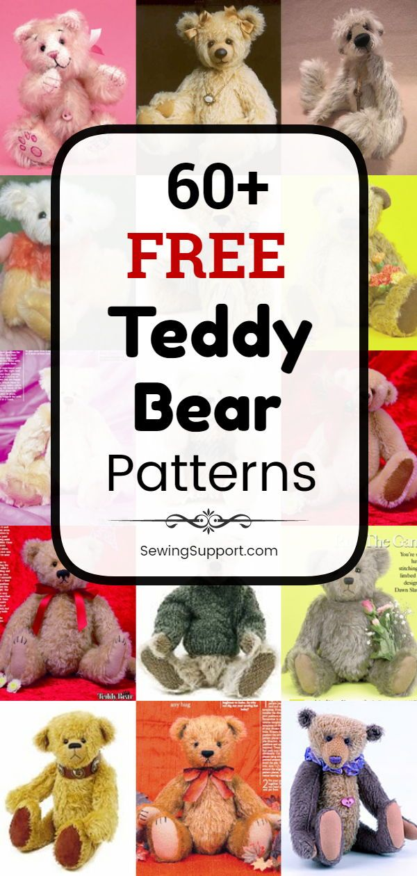 60+ Free Teddy Bear Patterns