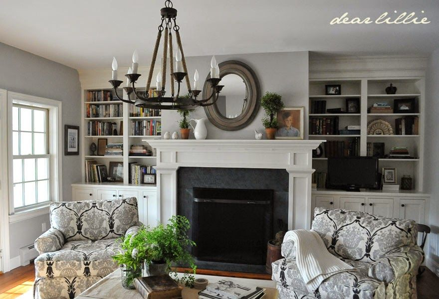 Simply White Living Room Ideas: Dear Lillie: My Parent's Living Room Wall Color