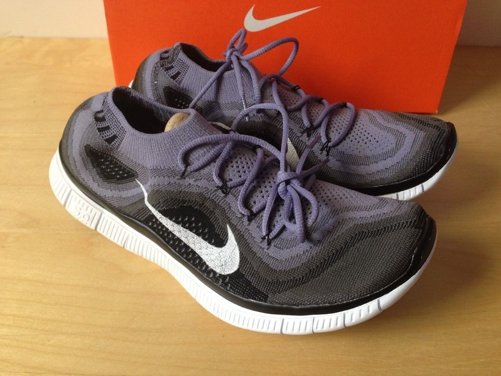 newest collection 17593 3f4c7 ... Nike FREE Flyknit+ 5.0 Running Shoes Mens 10.5 615805 510 Black Iron  Purple  Nike ...