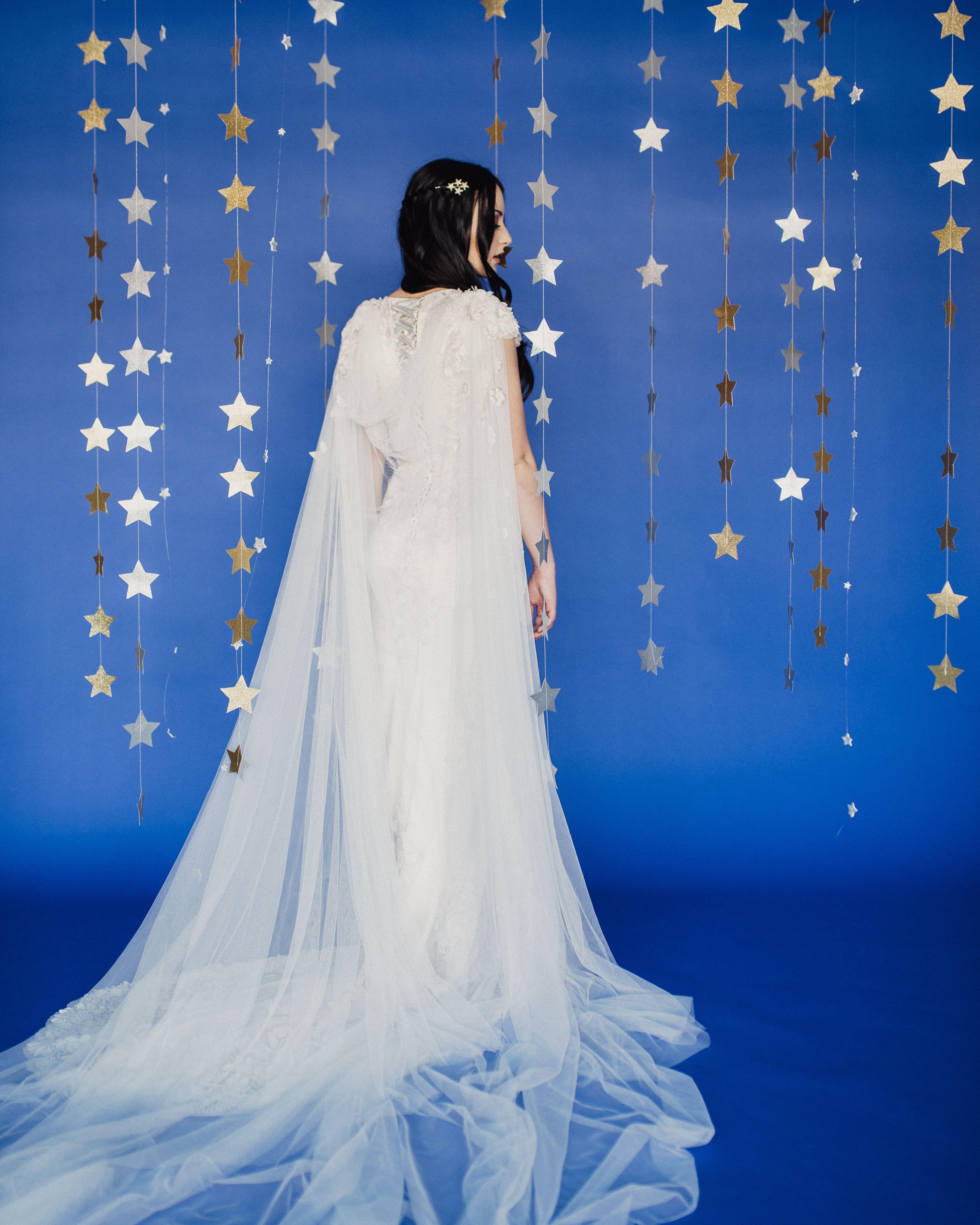 Elizabeth Cooper Design | 2018 Collection | Pandora gown with cape ...