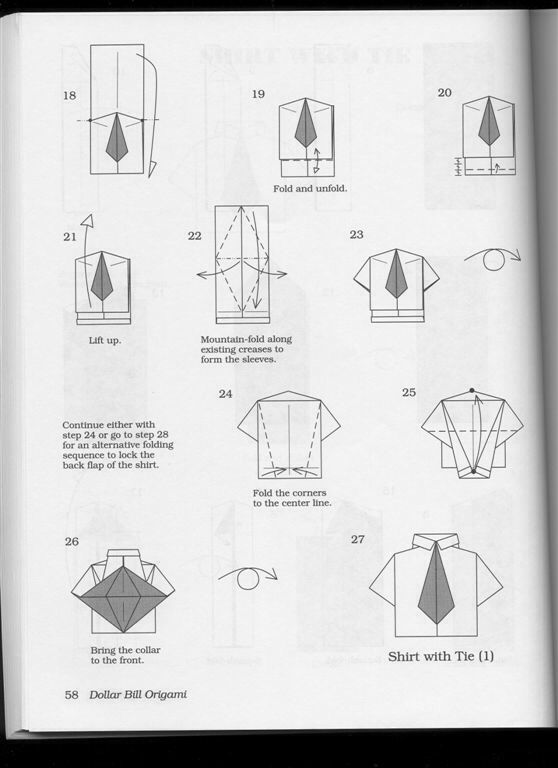 origami t shirt with tie