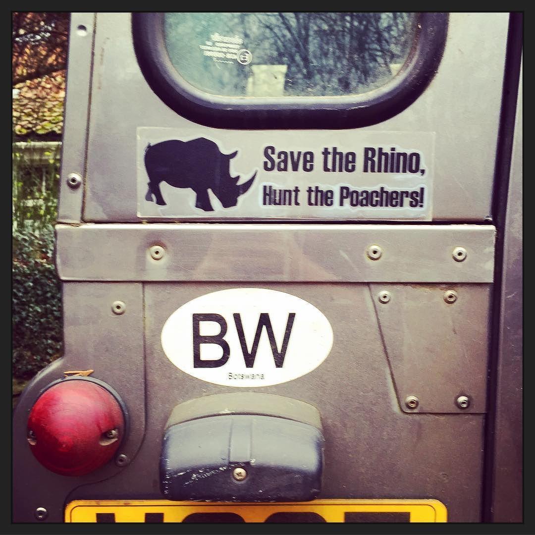 Spreading the word back home #antipoaching #savetherhino #landrover #rhino #endangered #rhinopoaching #southafrica #spreadtheword #landroverdefender #endangeredspecies #stopkillingrhinos #bumpersticker #huntthepoachers by aislingbury Spreading the word back home #antipoaching #savetherhino #landrover #rhino #endangered #rhinopoaching #southafrica #spreadtheword #landroverdefender #endangeredspecies #stopkillingrhinos #bumpersticker #huntthepoachers