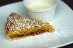 Bakewell Tart;  (known as Bakewell pudding in its home of Derbyshire):