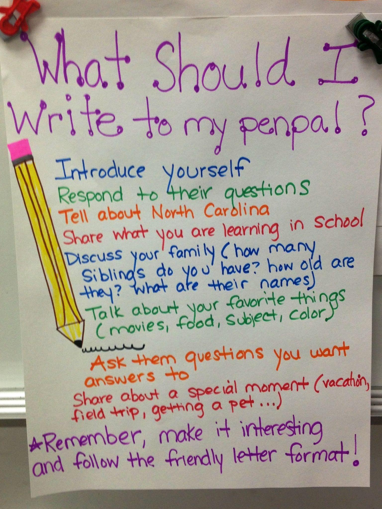 Pen pals! Friendly letter, Pen pal letters, Letters for kids