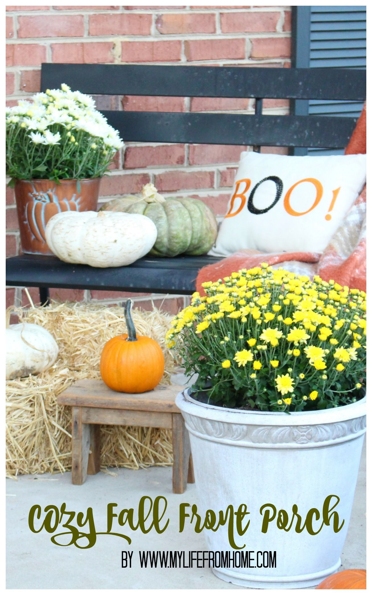 Fall Outdoor Decorating  Ideas For A Seasonal Front Porch  Fall Decor   Autumn