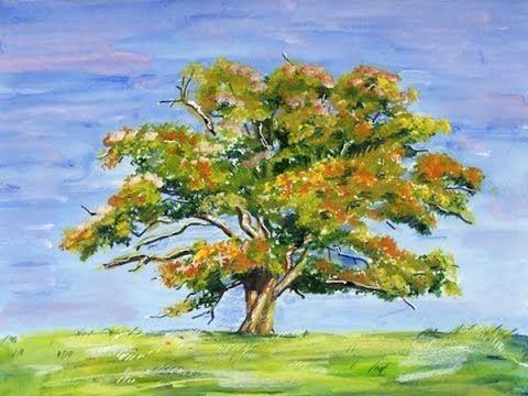 Como Pintar Arboles Arboles Pintados Como Pintar Pintar