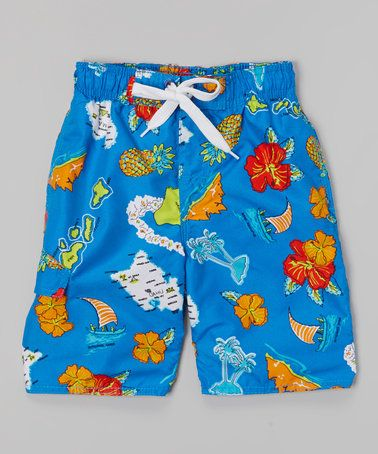 Look what I found on #zulily! Royal Outrigger Swim Trunks - Boys #zulilyfinds