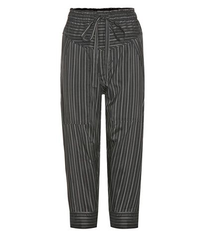 Isabel Marant Shantel Striped Silk-blend Cropped Trousers For Spring-Summer 2017