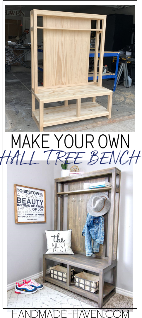Get The How -To For This Diy Hall Tree Bench Halltree Entryway - Diy Home Decor