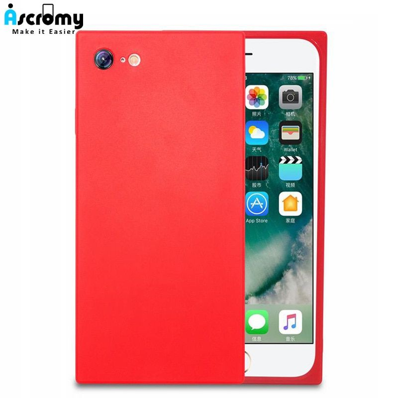 50d5fa42d Find More Fitted Cases Information about Ascromy Square Phone Case For  iPhone 7 7Plus TPU Soft