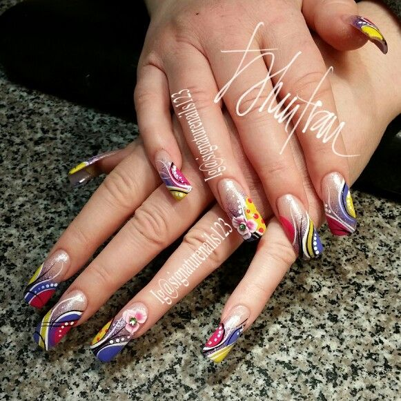 Freestyle nail art designs - Freestyle Nail Art Designs Nails By LeAnn Pinterest