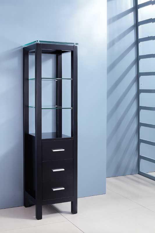 black bathroom tall boy LG-17 | Black bathroom, Tall boys ...