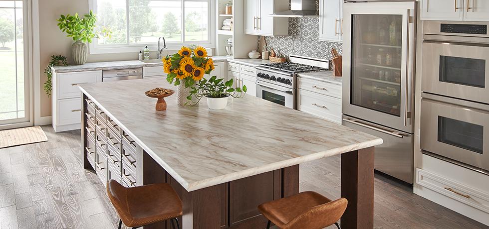 Drama Marble Kitchen Countertops Laminate Diy Kitchen