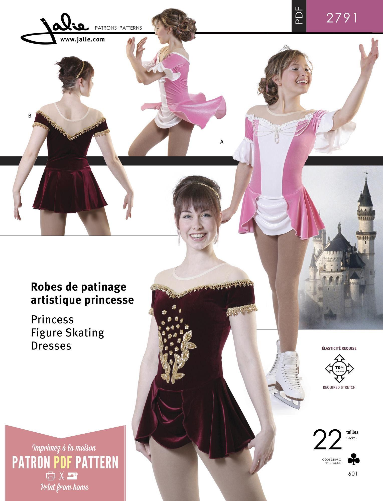 735ef103a9 Jalie 2791 - Princess Skating Dress PDF Pattern