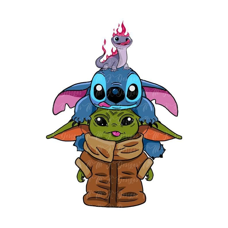 Baby Yoda Stitch Bruni Sublimation Designs Png Graphic Design T Shirt Sublimation Baby Yoda D Cute Cartoon Wallpapers Cute Disney Drawings Toothless And Stitch