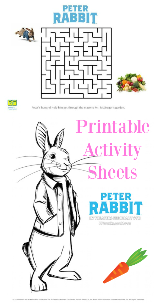 These printable Peter Rabbit Activity