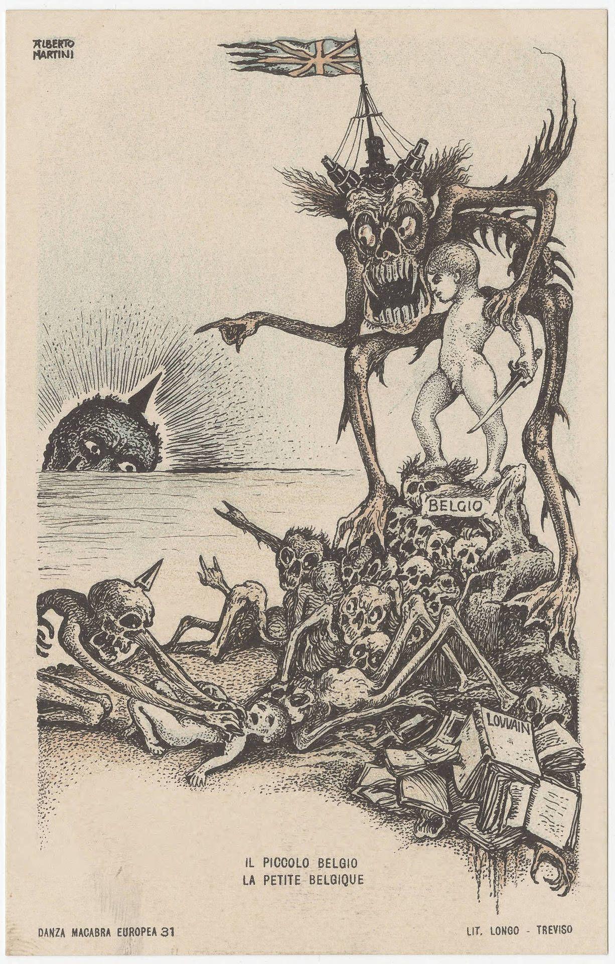 Alberto Martini - Danza Macabra Europea (1915)