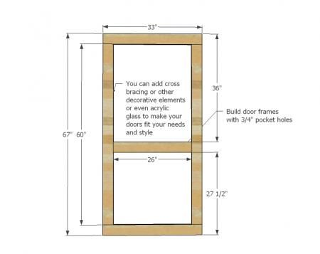Basic Door Idea (change measurements to fit your door frame with a 1/8