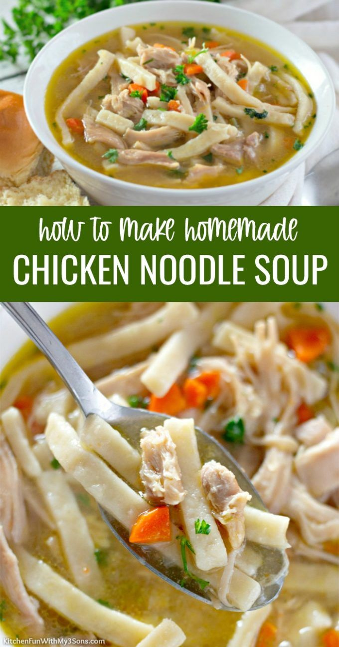 best homemade chicken noodle soup recipe with homestyle