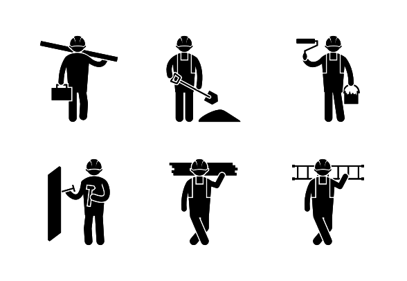 Worker Icon In Android Style This Worker Icon Has Android Kitkat Style If You Use The Icons For Android Apps We Recommend Icon Android Icons Android Fashion