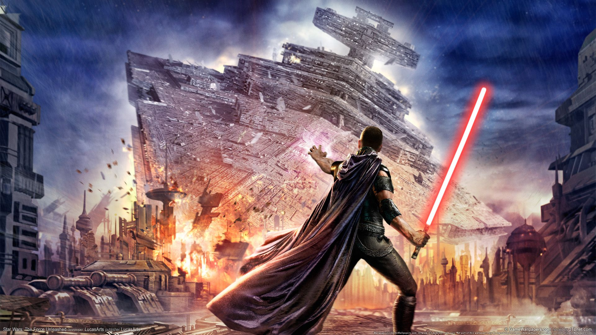 Epic Video Game Wallpapers Star Wars The Force Unleashed Star Wars Games Star Wars Poster Star Wars Wallpaper