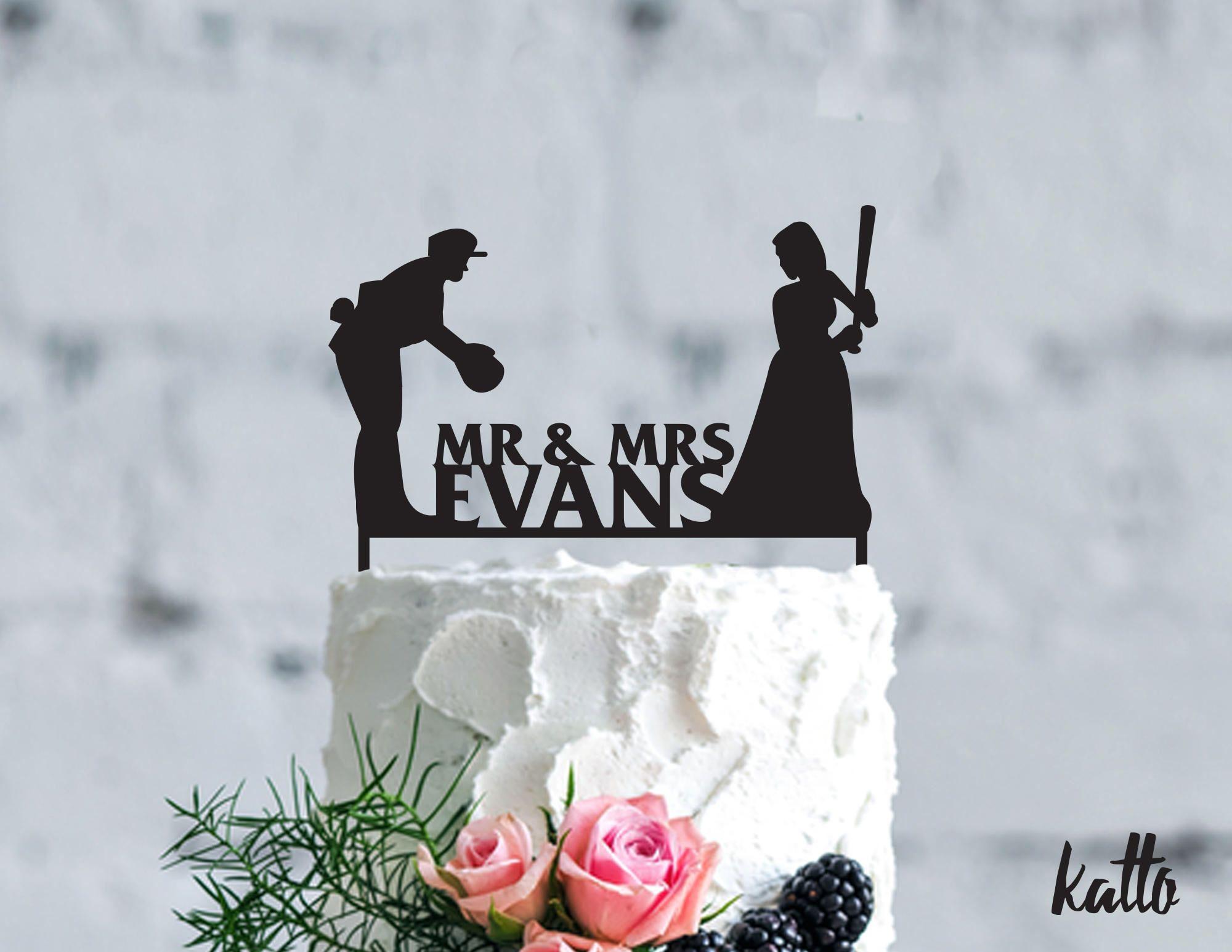 Pitching Baseball Cake Topper Wedding Cake Toppers Baseball Wedding Cakes Custom Wedding Cake Toppers