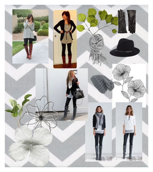"""""""Grey Tunic"""" by virgojen on Polyvore featuring WallPops, OKA, Dot & Bo, Phase 3, Shades of Grey by Micah Cohen, rag & bone and Brooks Brothers"""
