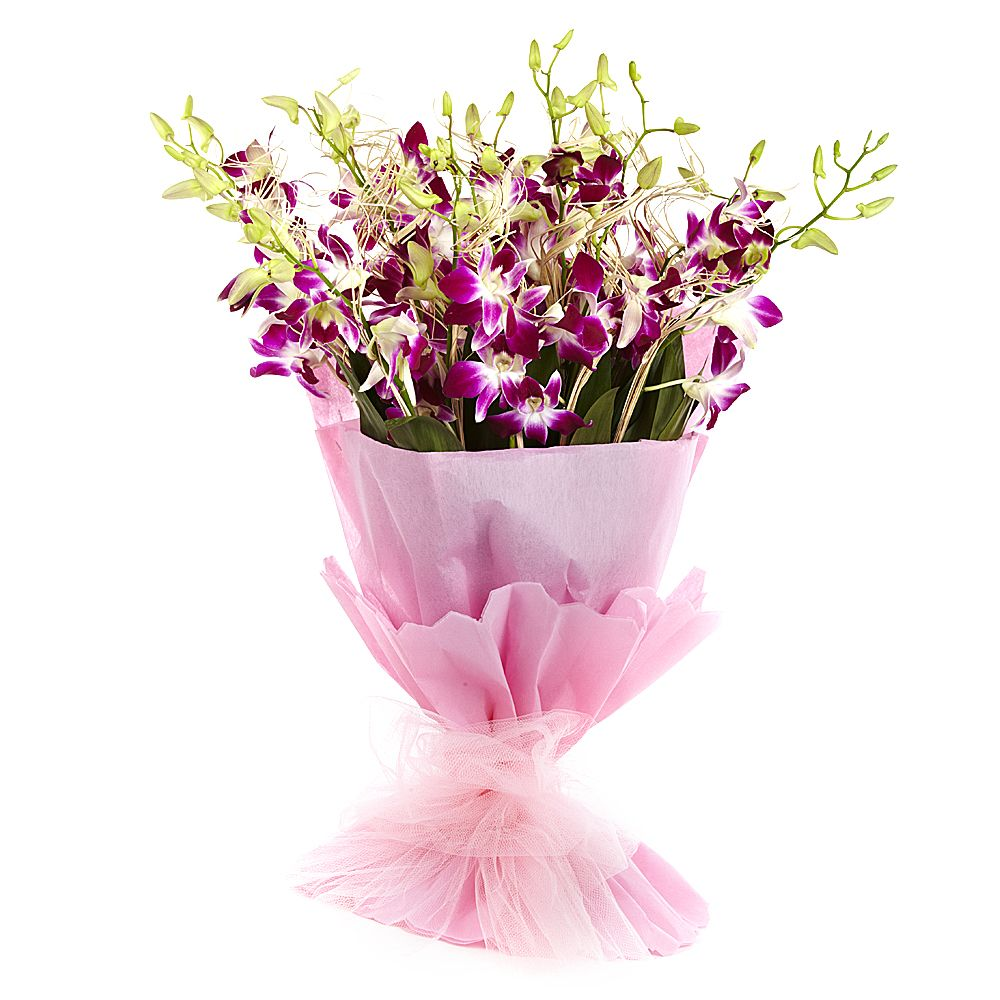 Orchid Delight Flower Delivery Online India S Leading Florist Company Frinza In 2020 Flower Bouquet Delivery Online Flower Delivery Send Flowers Online