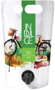 Indulge Wines 2009 Pinot Noir Central Coast in the Astrapouch - The Green, Low-Carbon, Eco-Friendly Packaging Alternative