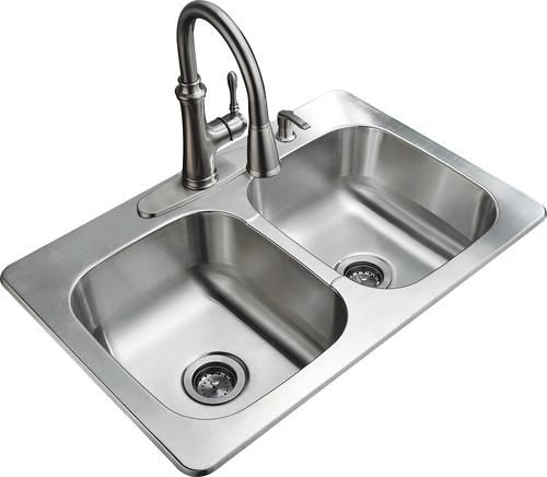 Menards Kitchen Sink Design Ideas For Small Kitchens Tuscany 33 X 22 9 Stainless Steel Double Bowl Kit At