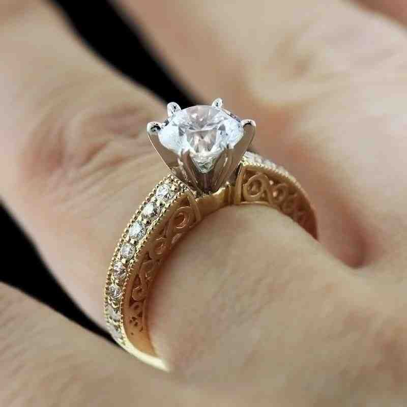 Yellow Gold Engagement Rings Trend Yellow Gold Engagement Rings Trending Engagement Rings Gold Solitaire Engagement Ring