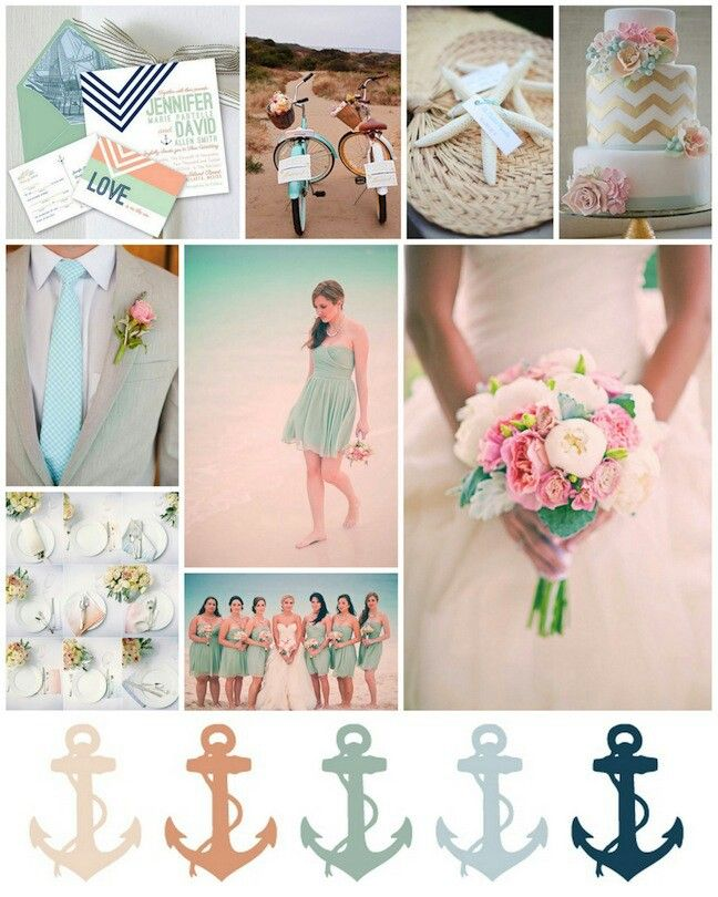 Oh so, nautical. Gorgeous color palettes for a gorgeous beach wedding ceremony. #summerweddings