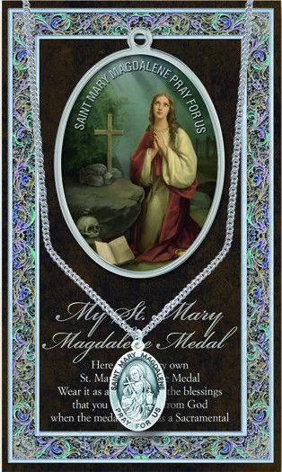 851d5767b37 St. Mary Magdalene Pewter Medal Catholic Medals, Catholic Saints, Patron  Saints, Saint