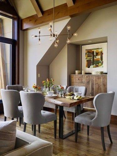 15 Ideas de Comedores Decorados Estilo Rústico | mesa comedor ...