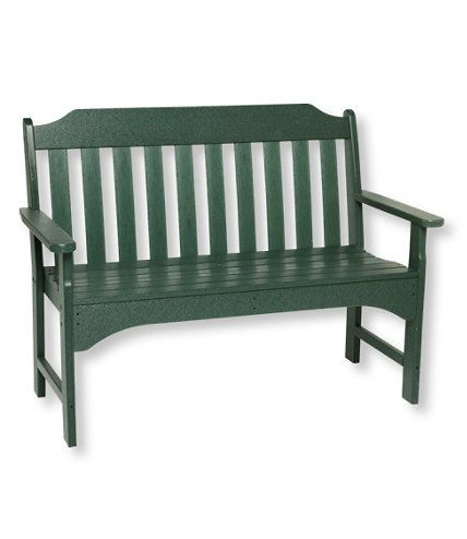 All-Weather Garden Bench: All-Weather at L.L.Bean | benches | Pinterest