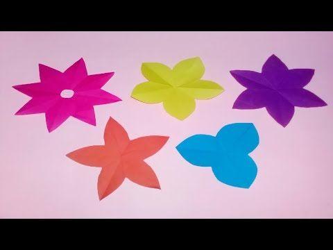 44 How To Cut 3 4 5 6 8 Petals Paper Flowers Diy Paper Flower
