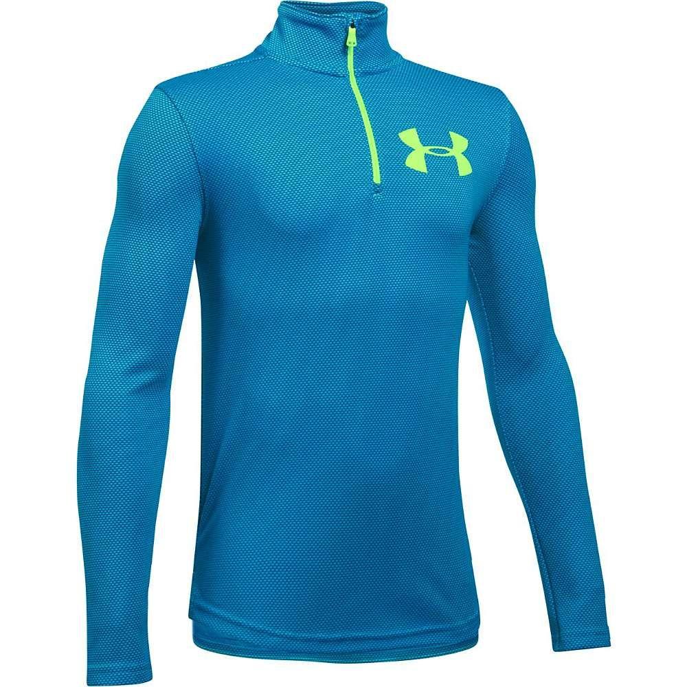 Under Armour Boys Textured Tech 1//4 Zip Long-Sleeve Shirt