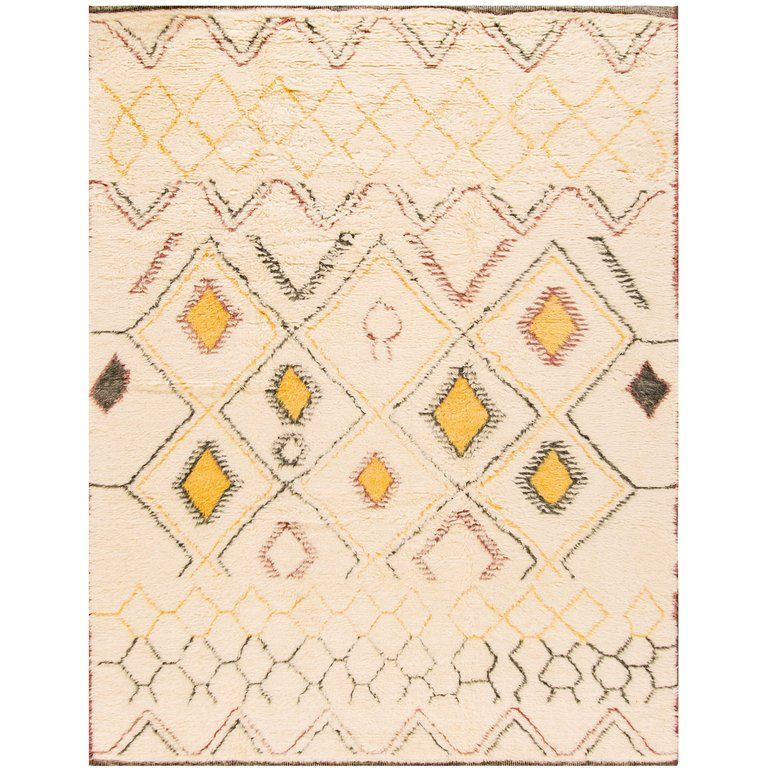 21st Century Cream Or Ivory Geometric Moroccan Style Carpet In 2020 Carpet Trends How To Clean Carpet Where To Buy Carpet