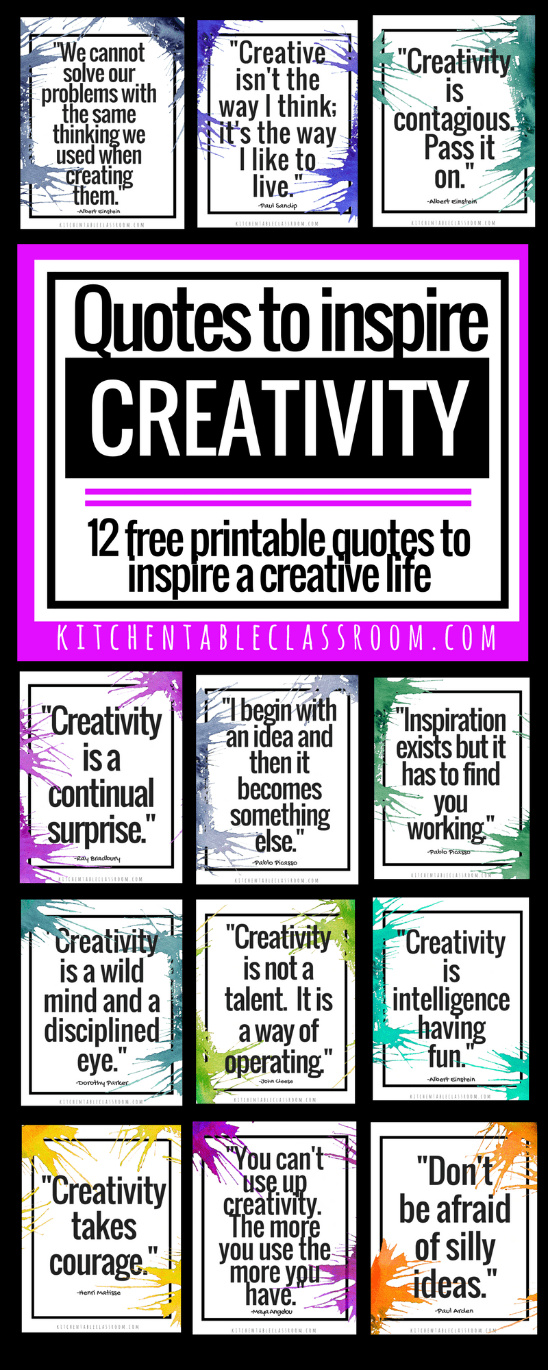 Creativity Quotes Learning To Think Outside The Box The Kitchen Table Classroom Creativity Quotes Inspirational Quotes Quotes