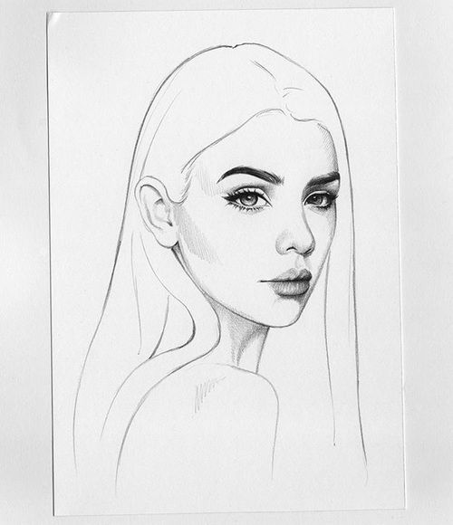 Drawing Girl Love And Beautiful Girl Drawing Pencil Art Drawings Girl Face Drawing