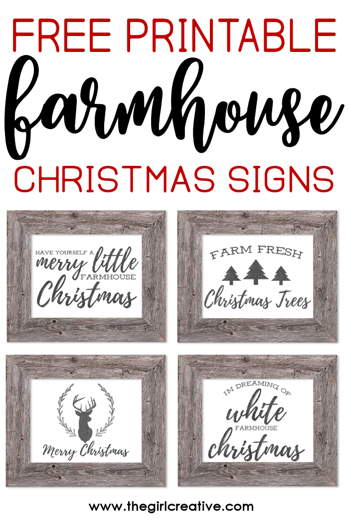 image about Printable Farmhouse Signs called Cost-free Printable Farmhouse Xmas Signs or symptoms Printables