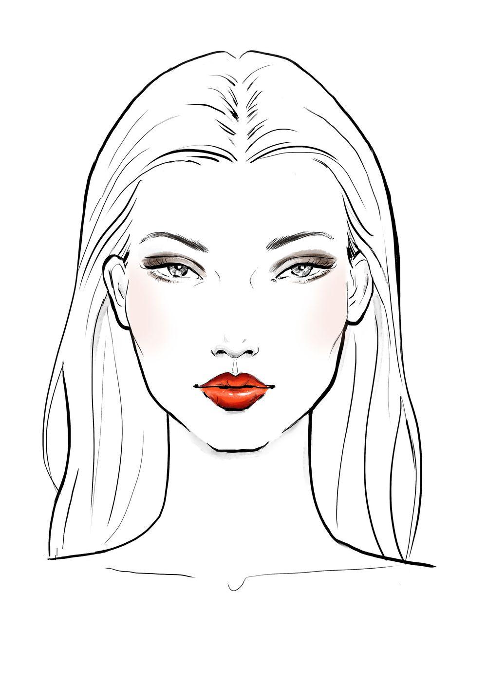 Sportsgirl Rostro De Mujer Dibujo Bocetos De Diseno De Moda Ilustracion De Moda