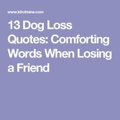 Comforting Quotes Awesome 13 Dog Loss Quotes Comforting Words When Losing A Friend  Dog Loss . Design Decoration