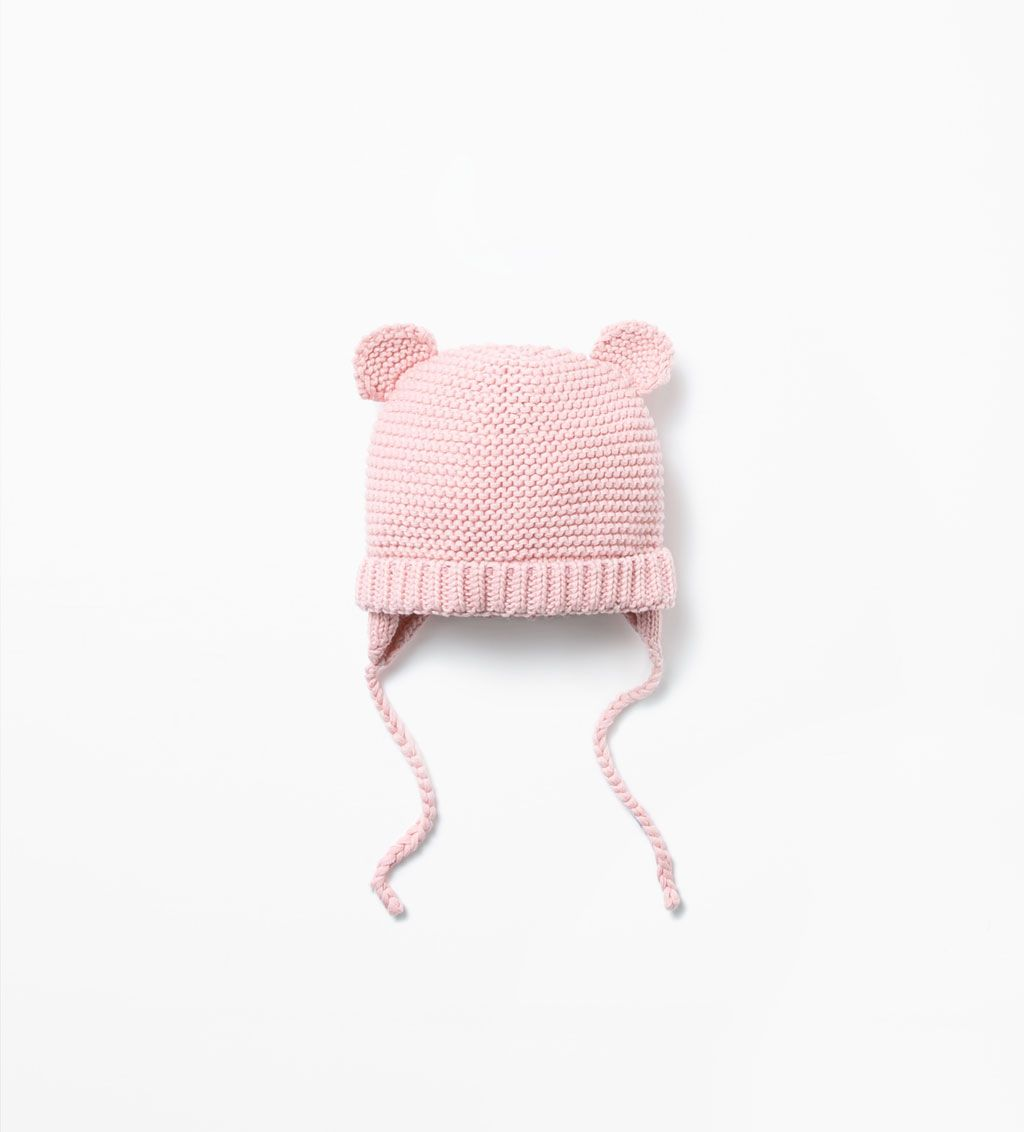 08b1ce11 Image 1 of BABY HAT WITH EARS from Zara   Cutie Things   Pinterest ...