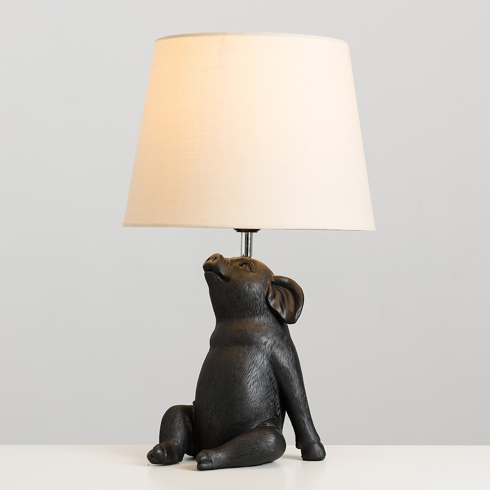 Patrick Piglet Gold Table Lamp with