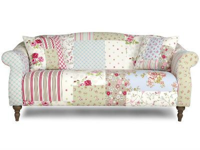 Patchwork Floral And Striped Sofa Dfs Floral Patterned