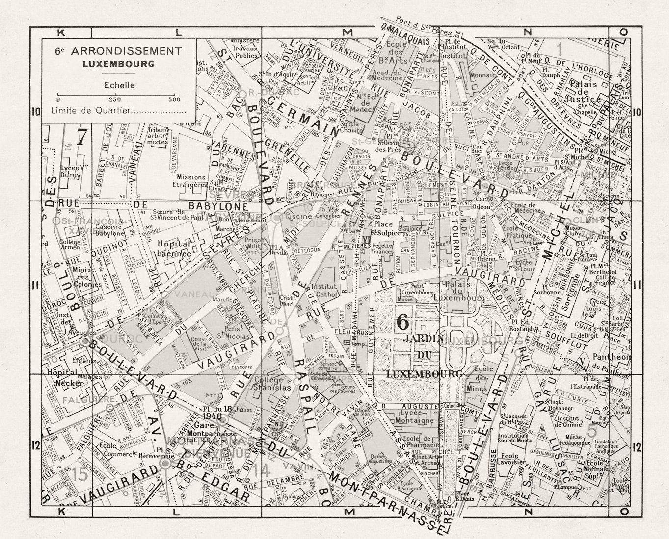 Map Of Paris France 6th Arrondissement.6er Paris Arrondissement Map Luxembourg Maps Paris