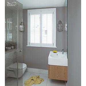Dulux Easycare Bathroom Chic Shadow Soft Sheen Emulsion Paint 2 5l Grey Bathroom Paint Painting Bathroom Grey Bathrooms