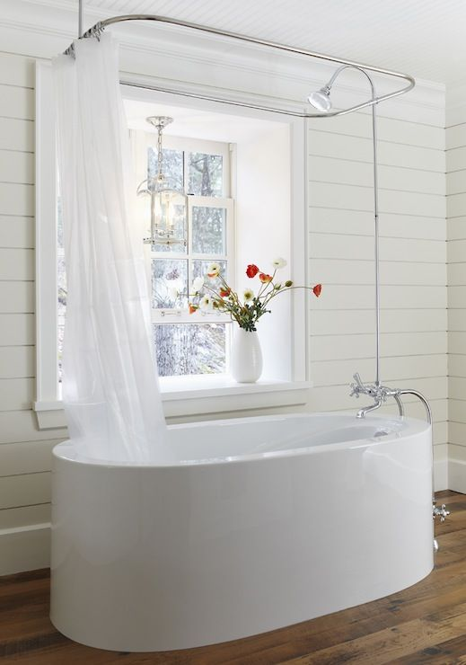 15 incredible freestanding tubs with showers. Black Bedroom Furniture Sets. Home Design Ideas